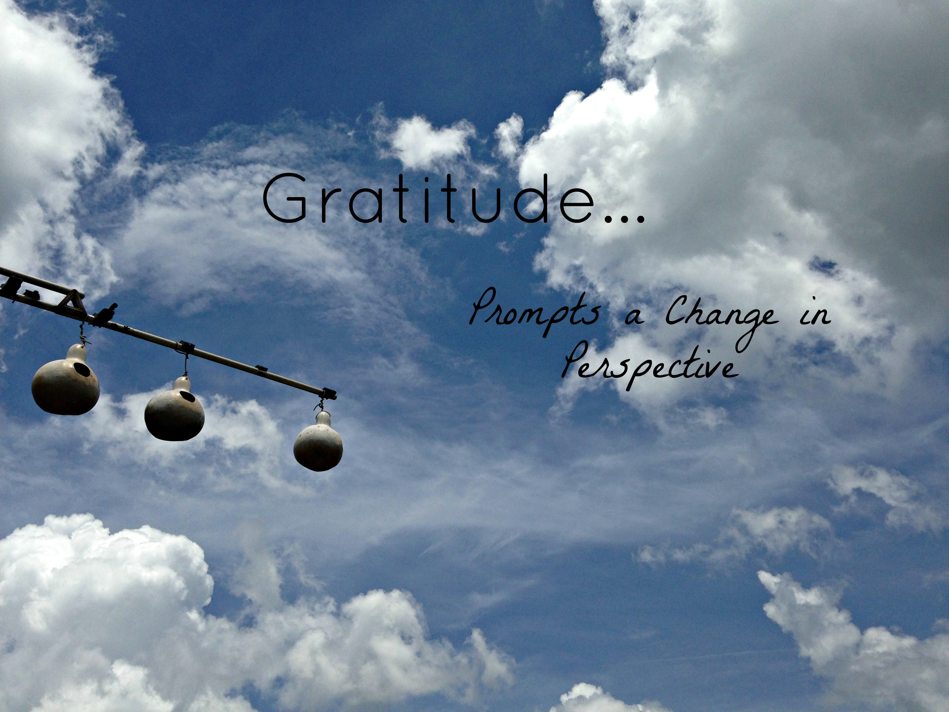 Gratitude Prompts a Change in Perspective